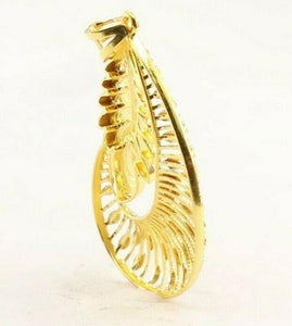 22k 22ct Solid Gold ELEGANT Simple Leaf LOCKET Pendant P1452 | Royal Dubai Jewellers