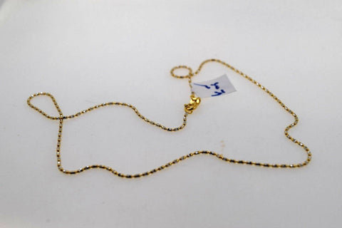 22k 22ct Yellow Solid Gold Chain Rope Necklace Exclusive Two Tone Design c1035 | Royal Dubai Jewellers