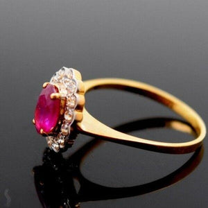 "22k 22ct Solid Gold ELEGANT Charm Ladies Ruby Ring SIZE 5.5 ""RESIZABLE"" r1695 
