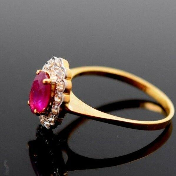 22k 22ct Solid Gold ELEGANT Charm Ladies Ruby Ring SIZE 5.5