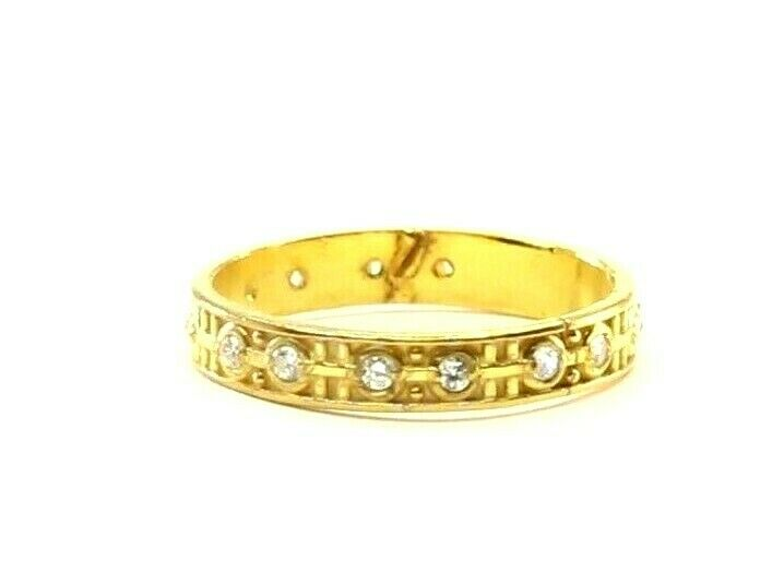 22k Ring Solid Gold ELEGANT Charm Ladies Simple Band  SIZE 7.5
