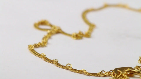 22k Yellow Solid Gold Chain Necklace Rope PALMA Design Length 18 inch c152 | Royal Dubai Jewellers