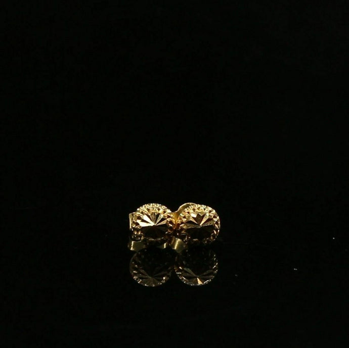 22k 22ct Solid Gold ELEGANT Simple Diamond Cut Studs Earrings Design E6328z