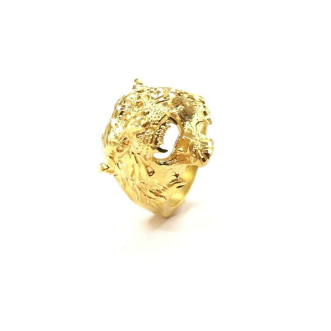 22ct 22k Solid Gold Elegant Unique Tiger Mens Ring Size R2031mon | Royal Dubai Jewellers