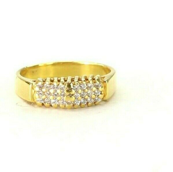 22k Ring Solid Gold ELEGANT Charm Ladies Simple Ring SIZE 8.6
