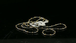 22k Chain Yellow Solid Gold Necklace Snake And Beads Design Length 16 inch c3008