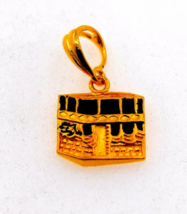 22k Jewelry Solid Gold Allah islam muslim pendant quran locket  p562 | Royal Dubai Jewellers