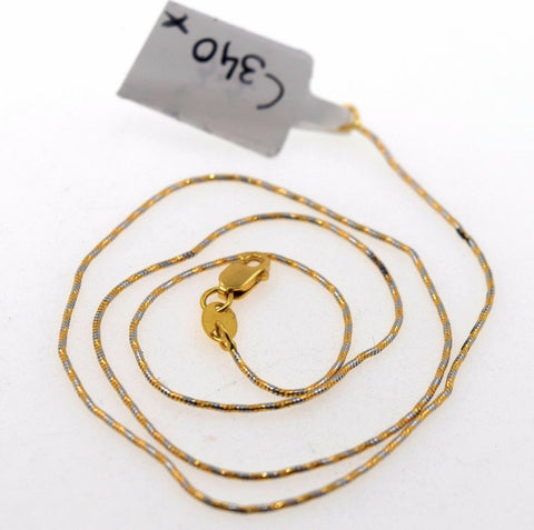 22k Jewelry Yellow Solid Gold Chain Necklace Elegant Modern Rope Design c340 | Royal Dubai Jewellers
