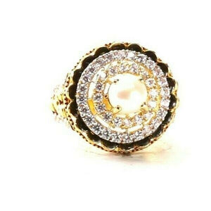 "22k Ring Solid Gold ELEGANT Charm Ladies Simple Ring SIZE 8"" RESIZABLE"" r2749"