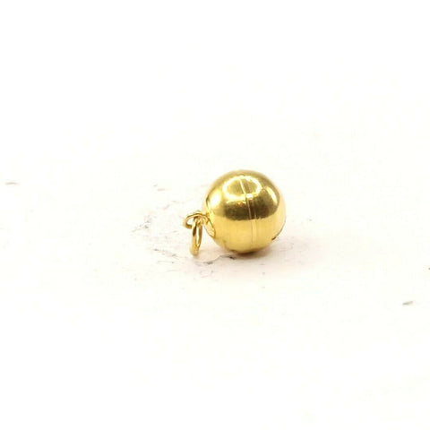 22k 22ct Solid Gold ELEGANT Simple Round Ball Glossy Finishin Pendant P1496 | Royal Dubai Jewellers