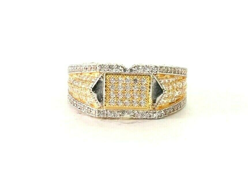 22k Ring Executive Men Style Ring Multi Stone Finishing r2746