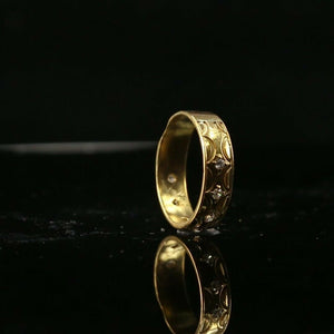 "22k Ring Solid Gold ELEGANT Charm Ladies  Band  SIZE 7.25 ""RESIZABLE"" r2137"