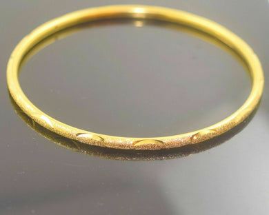 22k Solid Gold ELEGANT WOMEN BANGLE BRACELET ANTIQUE DESIGN Size 2.5 inch B335 | Royal Dubai Jwellers