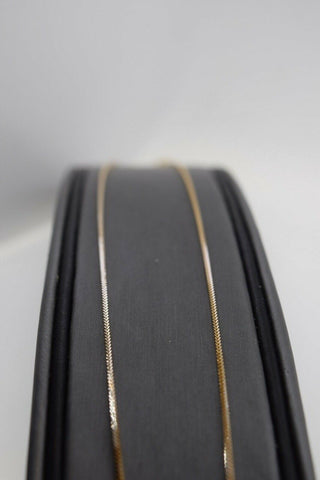 22k Chain Yellow Solid Gold Necklace Exquisite Modern Thin Rope Design c1087 | Royal Dubai Jewellers