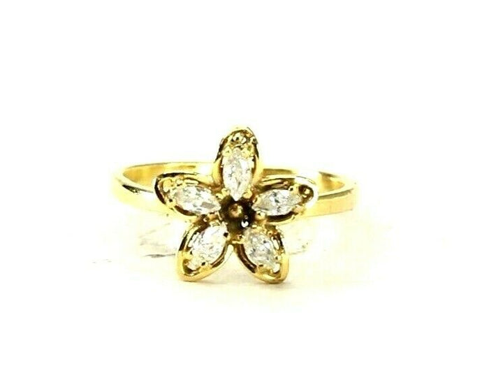 22k Ring Solid Gold ELEGANT Charm Ladies Ring SIZE 7.5