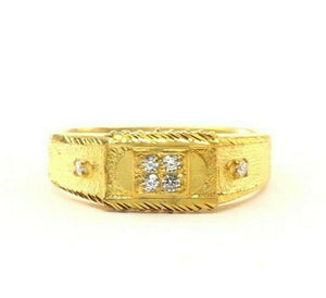 "22k Ring Solid Gold ELEGANT Charm Sand Blast Band SIZE 10.5 ""RESIZABLE"" r2320"