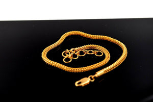 22k 22ct Solid Gold ELEGANT Charm Ladies Simple Bracelet Design 10 inch b911 | Royal Dubai Jewellers