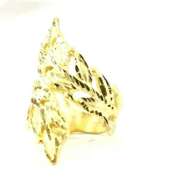 22k RIng Solid Gold ELEGANT Charm Floral Ring SIZE 8-1/2