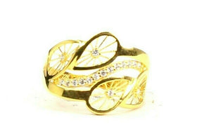 "22k Ring Solid Gold ELEGANT Charm Ladies Floral Ring SIZE 8.25 ""RESIZABLE"" r2631"