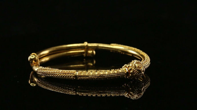 22k Solid Gold ELEGANT Simple Children BANGLE