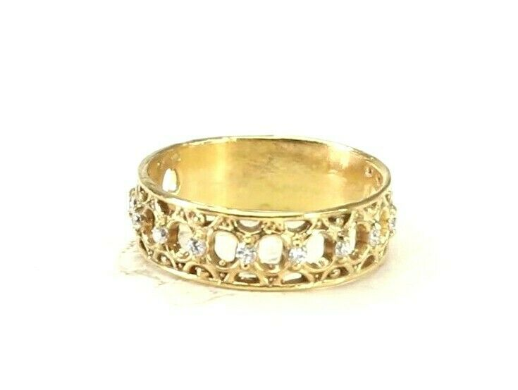 22k Ring Solid Gold ELEGANT Charm Ladies Band SIZE 7.85