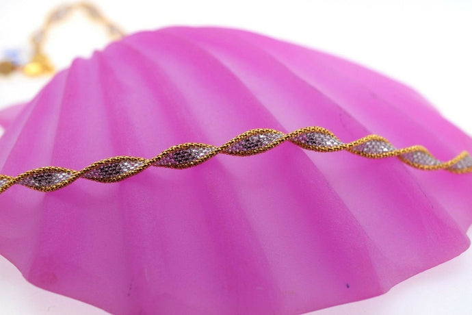 22k Chain Yellow Solid Gold Necklace Exquisite Modern Cascade Link Design c1078 | Royal Dubai Jewellers