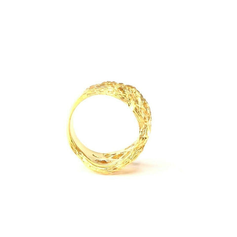 "22k 22ct Solid Gold ELEGANT Charm Ladies Simple Ring SIZE 5 ""RESIZABLE"" r2099 
