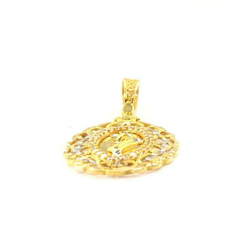 22k 22ct Solid Gold ELEGANT Simple Filigree Leaf Pendant  P1503 | Royal Dubai Jewellers