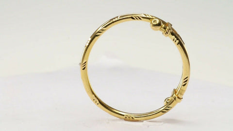 22k 22ct Solid Gold ELEGANT Children Simple BRACELET Adjustable  CB1190 | Royal Dubai Jewellers