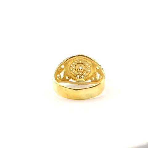 22ct 22k Solid Gold Elegant Medieval Design Mens Ring Size R2039mon | Royal Dubai Jewellers