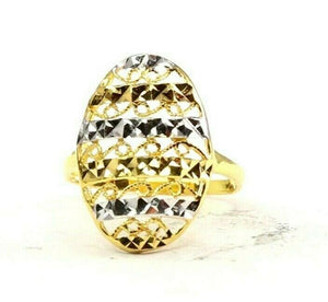 "22k Ring Solid Gold ELEGANT Charm Ladies Simple Ring SIZE 7.25 ""RESIZABLE"" r2623"