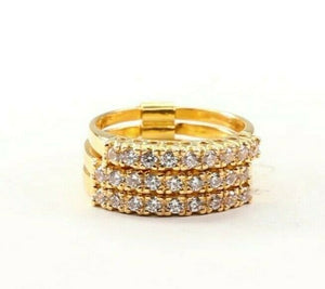 "22k Ring Solid Gold ELEGANT Charm Ladies Simple Ring SIZE 4.25"" RESIZABLE"" r2744"