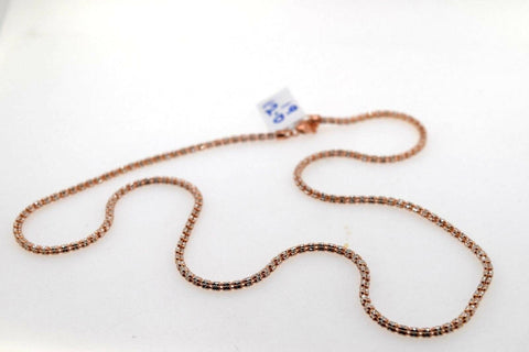 22k Chain Yellow Solid Gold Necklace Exquisite Modern Two Tone Rose Design c1073 | Royal Dubai Jewellers