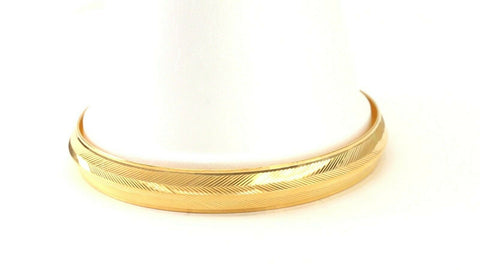 22k Bangle Solid Gold Simple Charm Diamond Cut Men Design Size 3 inch B4216