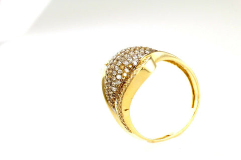 "22k 22ct Solid Gold ELEGANT Charm Ladies Designer Ring SIZE 8 ""RESIZABLE"" r1826 
