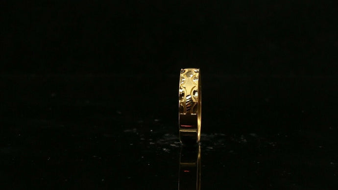 22ct 22k Solid Gold Elegant Diamond Cut Ladies Ring Size R2056mon | Royal Dubai Jewellers