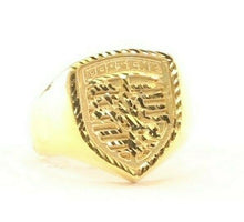 "22k Ring Solid Gold ELEGANT Charm Mens PORSCHE Band  SIZE 8 ""RESIZABLE"" r2104"
