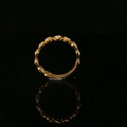 "22k 22ct Solid Gold ELEGANT Charm Ladies Simple Ring SIZE 7.5 ""RESIZABLE"" r2086 