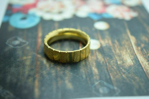 22k Yellow Gold Band Ring Mens or Ladies 6mm Width ANY SIZE AVAILABLE | Handmade