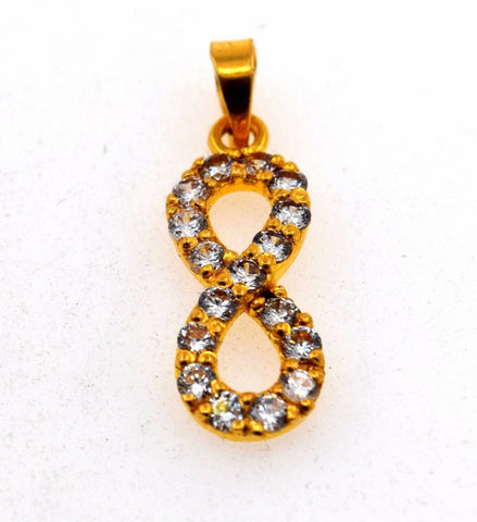 22k Jewelry Solid Gold ELEGANT Charm LOCKET Pendant P567 | Royal Dubai Jewellers