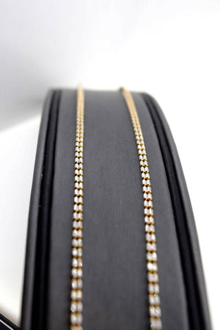 22k Chain Yellow Solid Gold Necklace Exquisite Modern Two Tone Link Design c1074 | Royal Dubai Jewellers