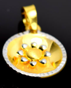 22k 22ct Solid Gold ELEGANT UNIQUE Flower Round Pendant Locket P52 | Royal Dubai Jewellers