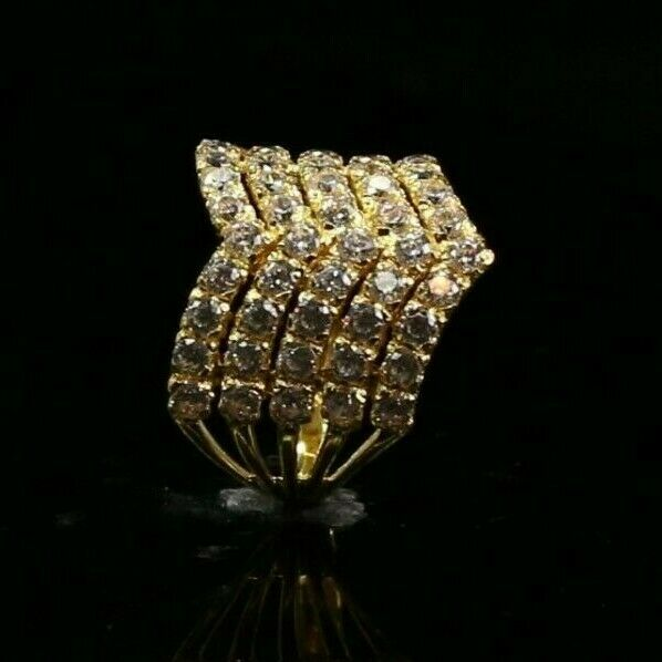 22k Ring Solid Gold ELEGANT Charm Ladies Simple Ring SIZE 8