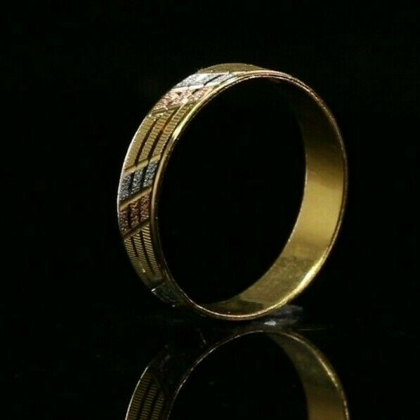 22k Ring Solid Gold ELEGANT Charm Ladies Simple Ring SIZE 9