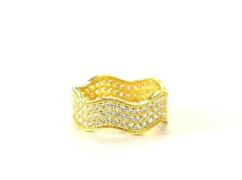 22k Ring Solid Gold ELEGANT Charm Ladies Simple Ring SIZE 5.75