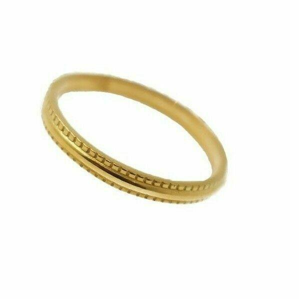 22k 22ct Solid Gold Engagement Millgrain Band Mens Ring SIZE 8