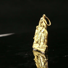 22k Solid Gold ELEGANT  Diamond Cut Religious krishna and radha Pendant P1514