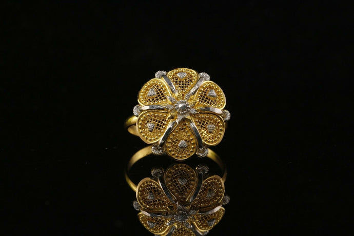 22k 22ct Solid Gold ELEGANT Charm Ladies Floral Ring SIZE 7.25