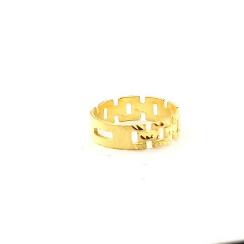 22ct 22k Solid Gold Elegant Ladies Italian Link Design Ring Size R2067mon | Royal Dubai Jewellers