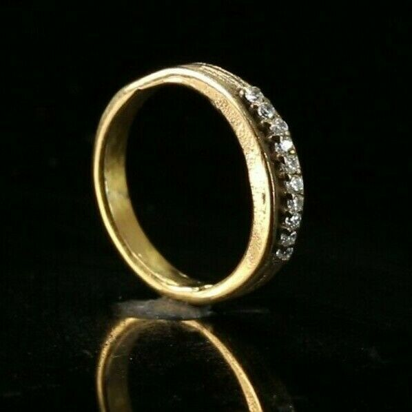 22k Ring Solid Gold ELEGANT Charm Ladies Band SIZE 5.5